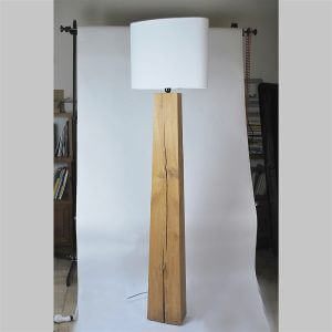 Lampadaire design minimaliste en bois TOTEM