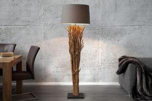 Lampadaire en bois flotté Refuge marron