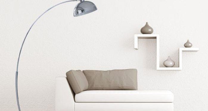 Lampadaire arc pour salon moderne et illuminé