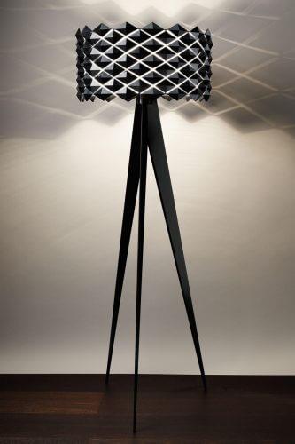 Lampadaire design italien cr atif et tendance - Lampadaire bois et blanc ...