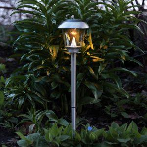 Lampadaire solaire Sarina en acier inoxydable avec LED