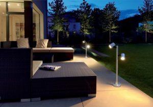 Petit lampadaire de jardin moderne
