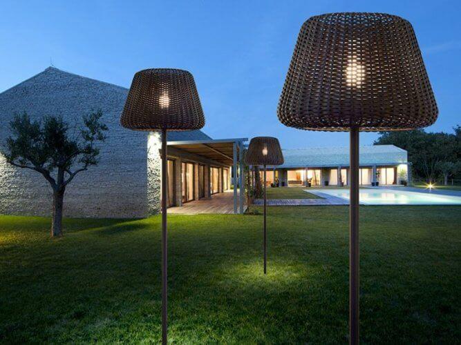 lampadaire extérieur design