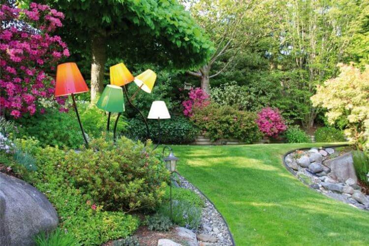 lampadaire jardin