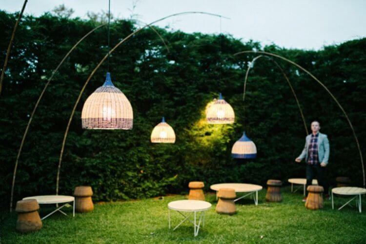 lampadaires arc extérieur design